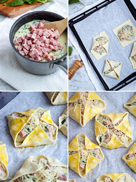 Tere Puff ham cheese and spinach puffs recipe eatwell101