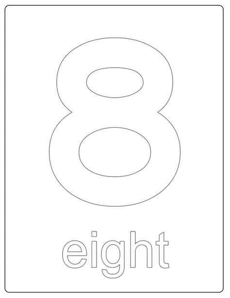 coloring page of the number 8 free coloring pages of number 8