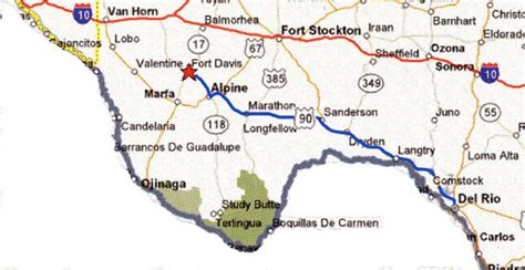 fort davis texas map map from to fort davis fort davis national historic site u s national park service