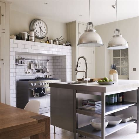 industrial style kitchen islands industrial style kitchen with stainless steel island