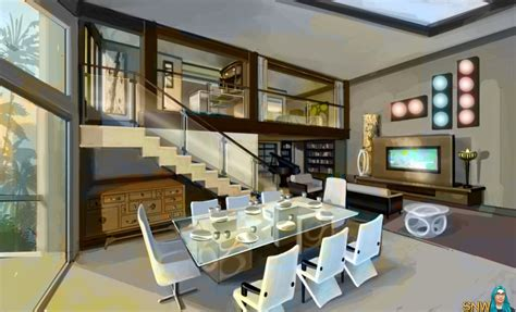 house interior s for sims 3 pretty small modern glass the sims 3 late night news snw simsnetwork com