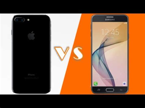 apple iphone 7 vs samsung j7 prime