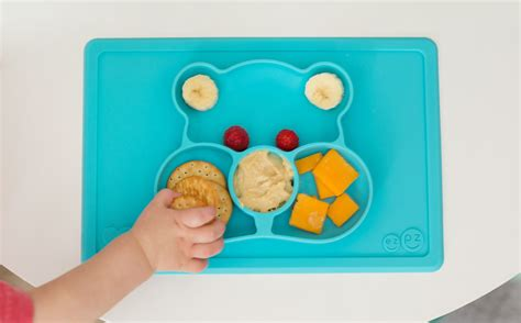 Ezpz Care Bears Mat In Teal mealtime lessons with ezpz care bears mats honest to nod