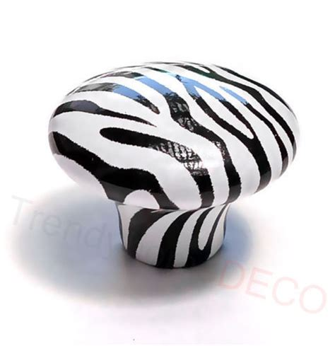 Zebra Drawer Knobs by Retro Zebra Animal Ceramic Knob Cabinet Dresser Drawer