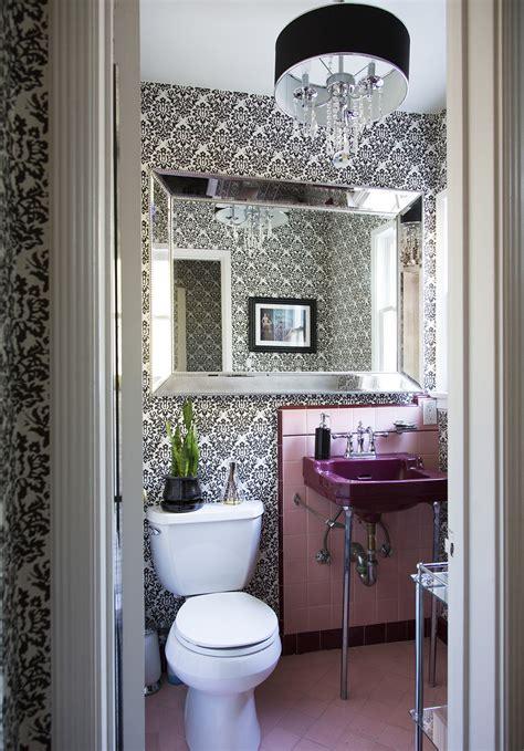 abstract floral powder room wallpaper design ideas lonny