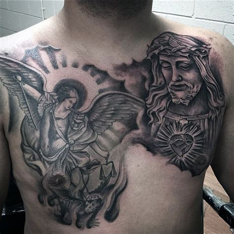 archangel tattoo designs for men 75 st michael designs for archangel and prince