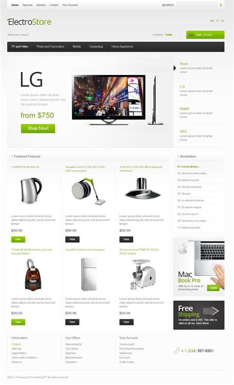 free electronics store prestashop template free