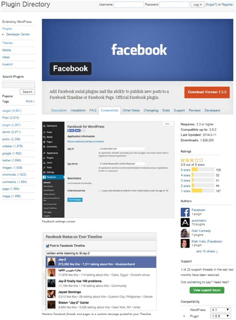 elegant themes facebook plugin how to post to facebook from wordpress elegant themes blog