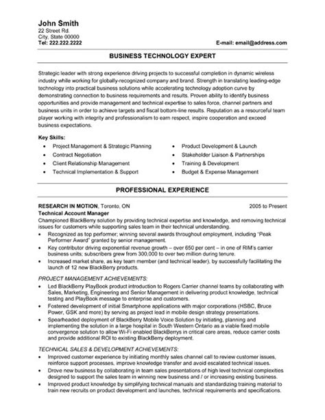 Technology Resume Template by Business Technology Expert Resume Template Premium