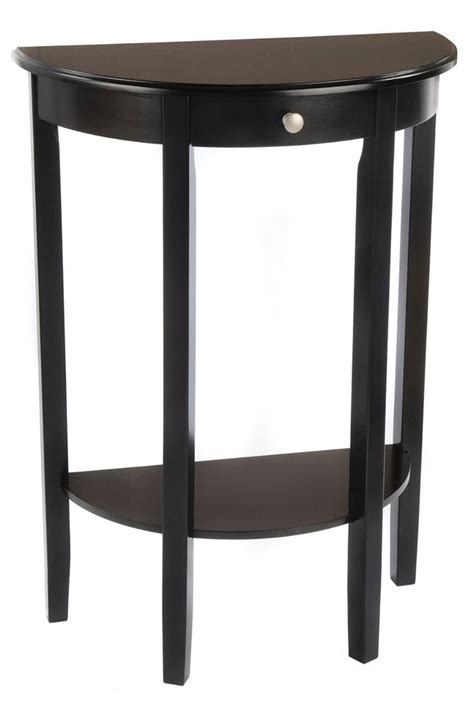 Half Sofa Table Bay Shore Half Circle Console Table In Accent Tables