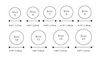 wedding ring size engagement wedding ring size chart