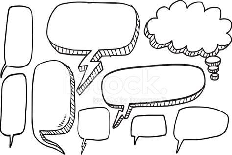 doodle bubbles vector free doodle speech set stock photos freeimages