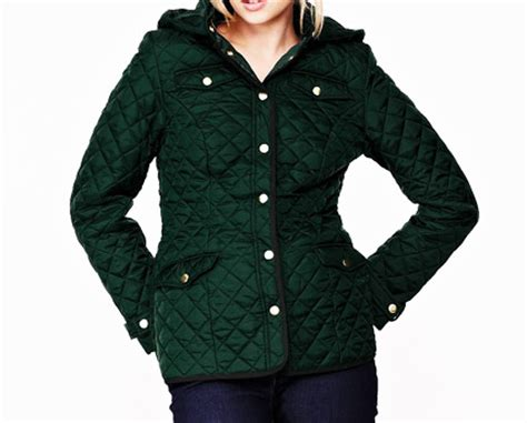Womens Green Quilted Jacket by Hooded Quilted Jacket Green Navy Lookcubes