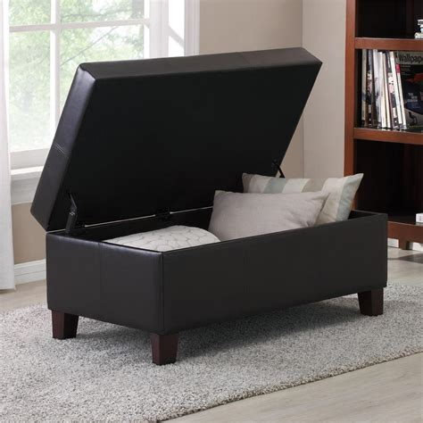 dorel living storage ottoman dorel living espresso rectangle storage ottoman fa3051e