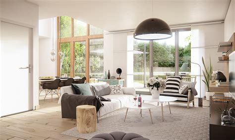 scandinavian style wohnen scandinavian style interior cgi on behance