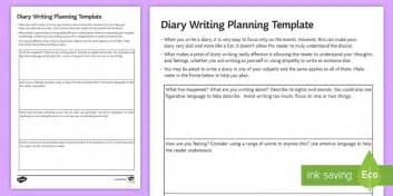 diary planning all subjects worksheet activity sheet