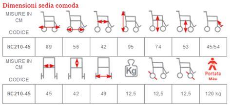 dimensione sedia a rotelle sedia comoda wc su 4 ruote 45 cm