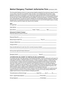 permission to treat form template emergency treatment authorization form in word and
