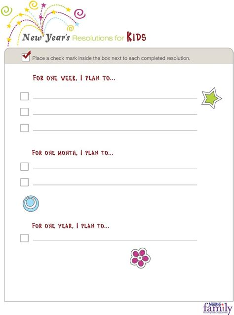 new years resolutions template for kids search results