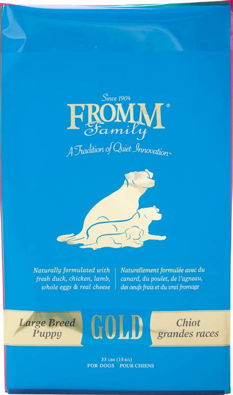 fromm large breed puppy fromm gold holistic large breed puppy food 33 lb bag chewy