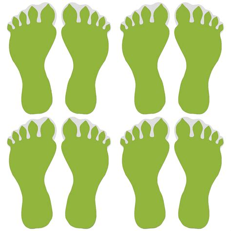 Halloween Crafts Treats - glow in the dark monster footprint floor decals