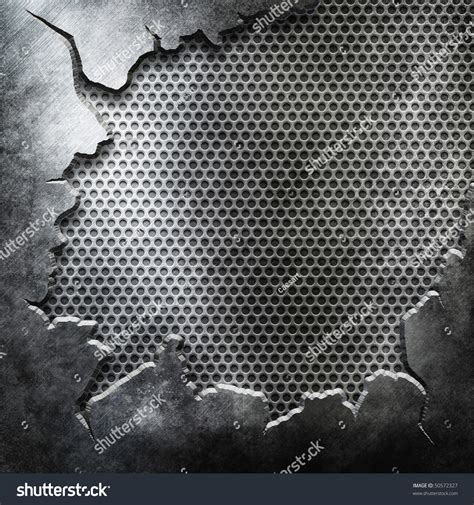 Crack Metal Template Background You Can Stock Illustration 50572327 Shutterstock Metal Template