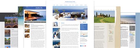 rental website design for cottages villas