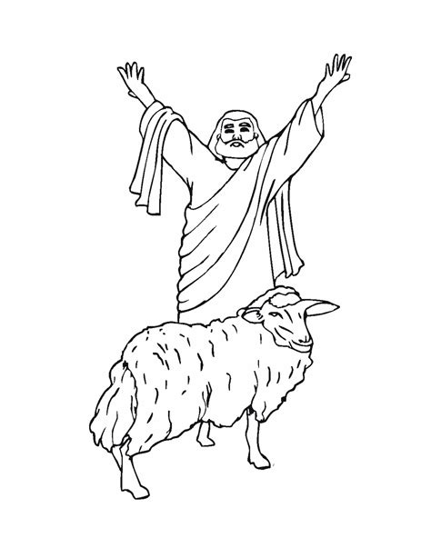 pin jesus lamb coloring pages pictures on pinterest