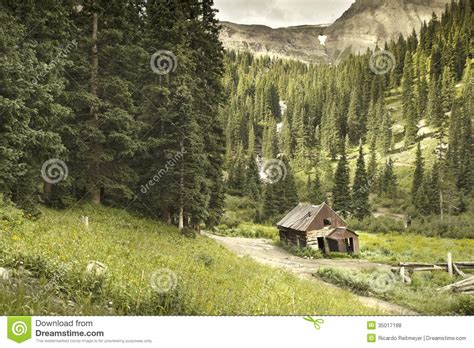 Cabins In Ouray Colorado by Ouray Colorado Mining Cabin Stock Photo Image 35017188