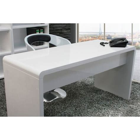 Large White Office Desk Lumiere Curved Home Office Desk In High Gloss White Buy Desks