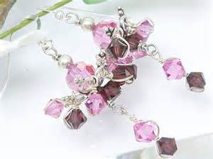 burgundy chandelier pink and burgundy chandelier swarovski sterling