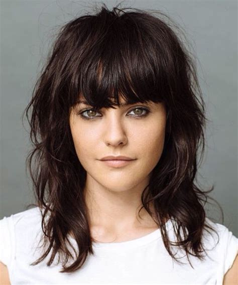 hairstyles with fringe shoulder length gorgeous full fringe medium hairstyles 2015 full dose