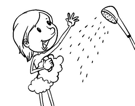 Page Shower by Shower Coloring Page Coloringcrew