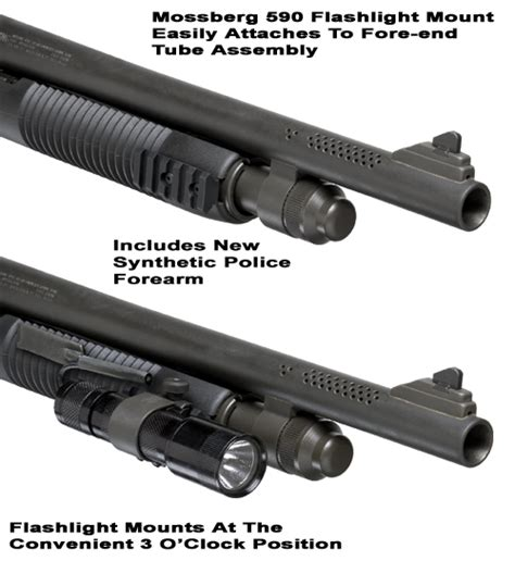 mossberg 500 tactical light mossberg 500 and 590 flashlight mount tactical light