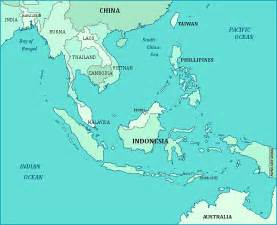 Map South East Asia by Asia Travel Guide