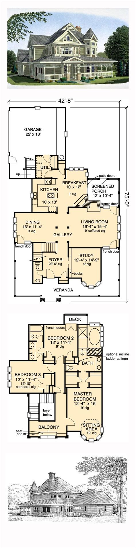 6 bedroom victorian house plans - 28 images - house plan beautiful 6 ...