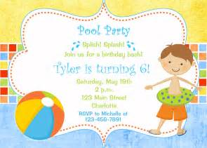 pool birthday invitation pool pool toys
