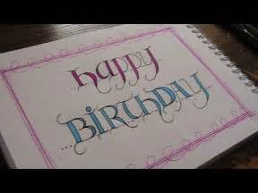 how to write in fancy creative letters happy birthday