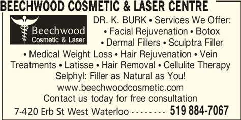 Laser Hair Removal Waterloo Kitchener by Beechwood Cosmetic Laser Centre Opening Hours 420