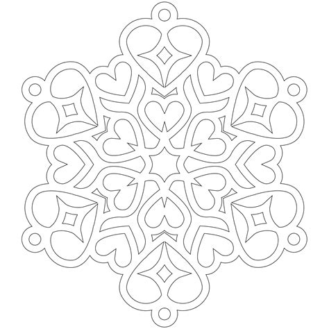 printable heart snowflakes don t eat the paste heart snowflake coloring page