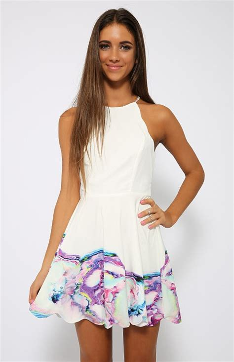 Valleygirl Back Dress valley dress print back in stock clothes