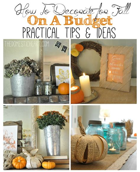 decorating on a budget how to decorate for fall on a budget