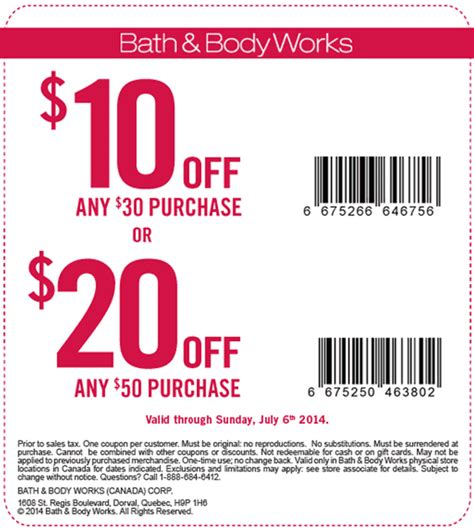 Bath And Works Canada Printable Coupon 2017