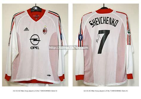 Ac Milan Signature 10 football shirt collection 02 03 ac milan away players l
