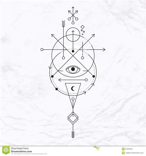 modern geometric alchemy symbol stock vector