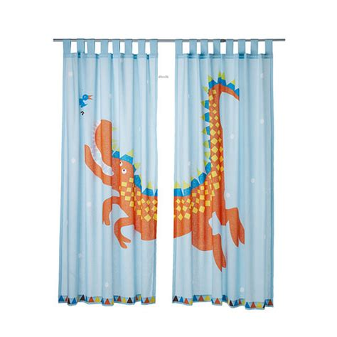 childrens dinosaur curtains ikea heltokig dragon dinosaur curtains blue girl boy children
