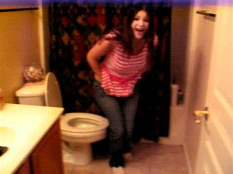 sister in bathroom me walkin in the bathroom n run into my sister thats about