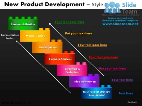 latest themes for powerpoint presentation new product development market testing development design