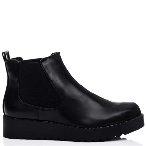 spylovebuy springfield black ankle boots shoes at