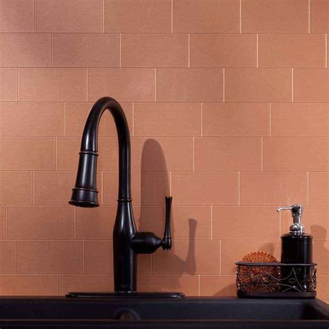 copper subway tile backsplash prodajlako homes copper